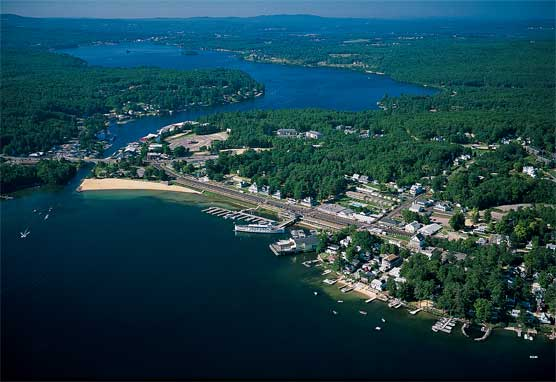 1998 Aerial Photo of Weirs Beach