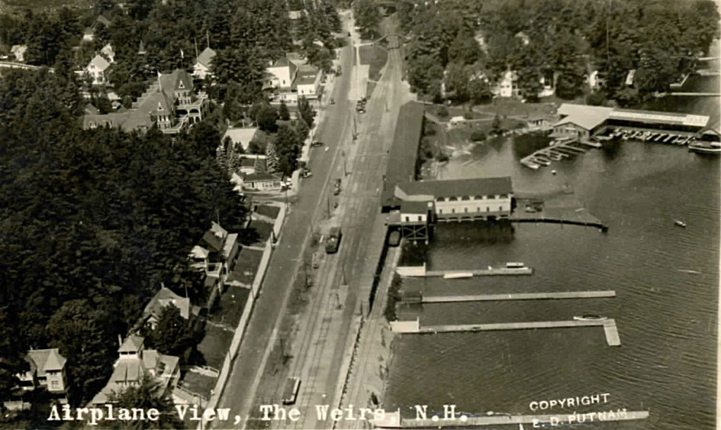 The oldest aerial of Weirs Beach known to exist